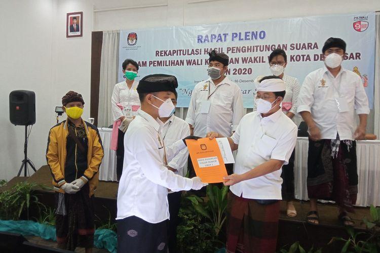 Rapat pleno KPU Denpasar di Hotel Inna Bali Heritage, Denpasar, Rabu (16/12/2020).