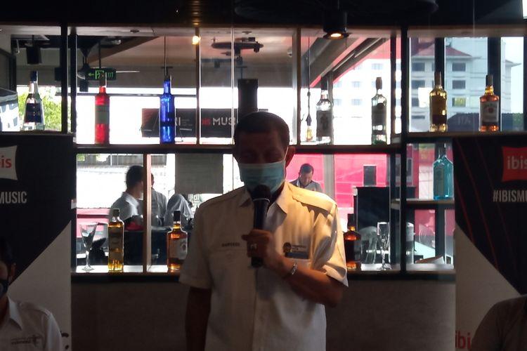 Walikota Yogyakarta Haryadi Suyuti saat jumpa pers di Hotel Ibis Malioboro, Rabu (30/12/2020)