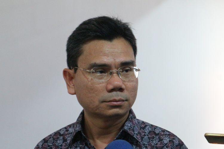 Direktur EksekutifSaiful Mujani Research & Consulting (SMRC) Djayadi Hanan ketika ditemui di kantor SMRC, Jakarta, Kamis (2/11/2017).