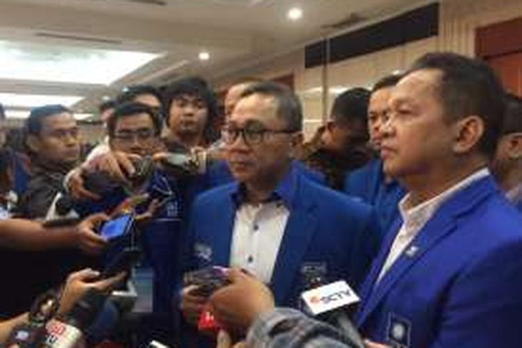 Ketua MPR RI, Zulkifli Hasan saat Rapimnas PAN di Hotel Bidakara, Jakarta, Minggu (13/11/2016).