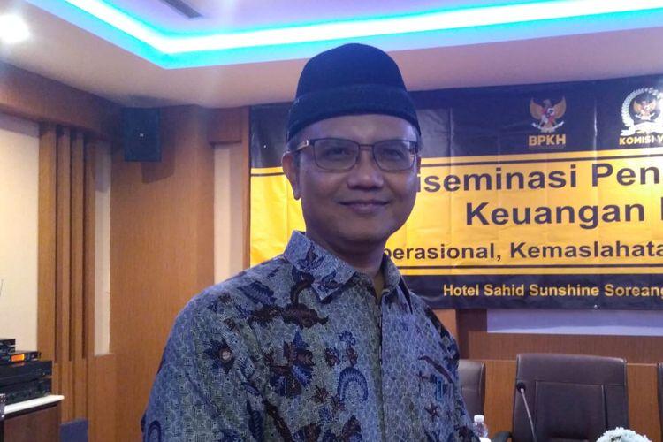 Dewan Pengawas Badan Pengelola Keuangan Haji (BPKH),  Yuslam Fauzi.