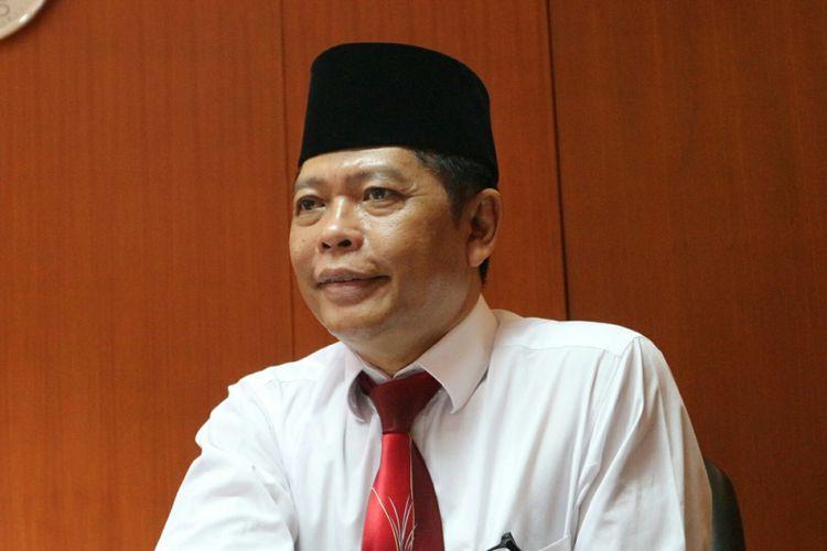 Kepala Biro Hukum dan Hubungan Masyarakat Mahkamah Agung, Abdullah saat ditemui di gedung MA, Jakarta, Jumat (27/10/2017).