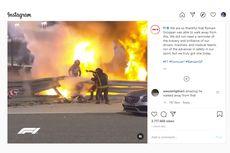 Romain Grosjean Selamat Walau Terbakar di Kokpit, Sang Istri Ucapkan Kata-kata Mengharukan