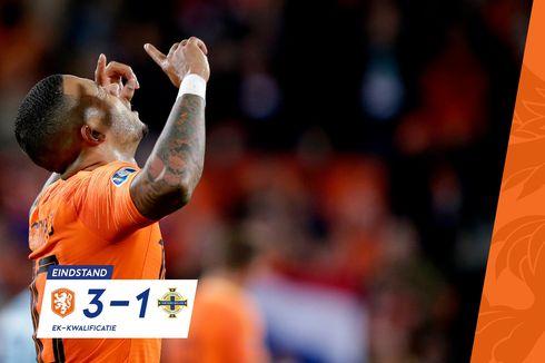 Belanda Vs Irlandia Utara, Depay dan De Jong Menangkan De Oranje