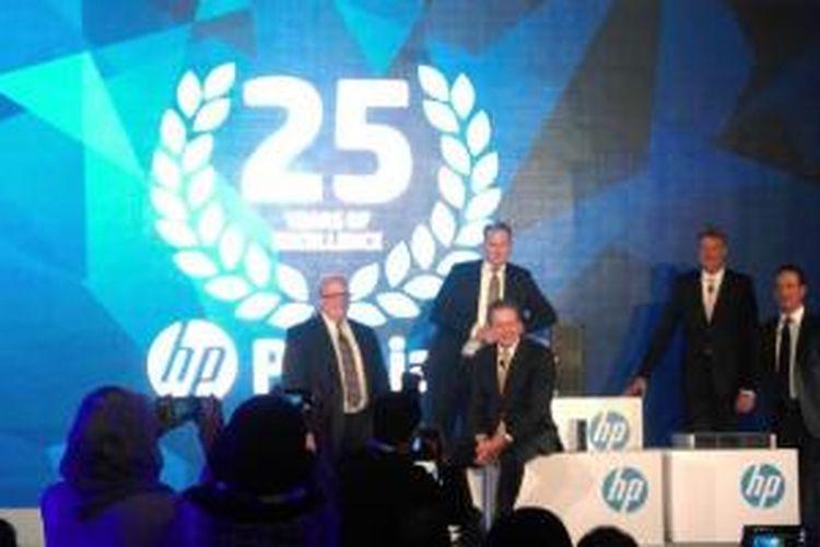 Acara perkenalan lini server Proliant generasi kesembilan Hewlett-Packard (HP) di Singapura, Rabu (17/9/2014).