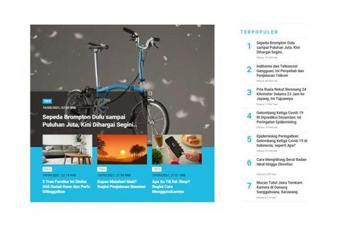 [POPULER TREN] Harga Sepeda Brompton | Penyebab Gangguan Indihome dan Telkomsel