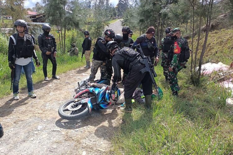 Seorang sopir ojek bernama Udin ditembak mati Kelompok Kriminal Bersenjata (KKB) di Kampung Eromaga, Distrik Omukia, Kabupaten Puncak, Papua, Rabu (14/3/2021).