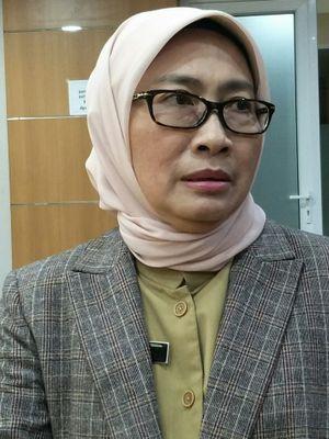 Sekretaris Dinas Pendidikan DKI Jakarta Susi Nurhati di Gedung DPRD DKI Jakarta, Jalan Kebon Sirih, Senin (22/1/2018).