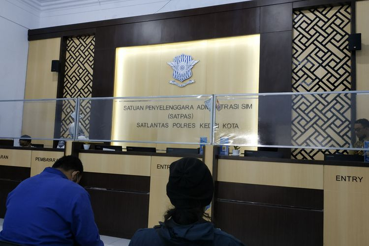 Satpas SIM Polres Kediri Kota, Jawa Timur.