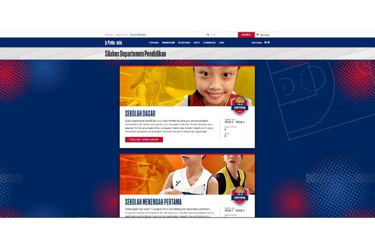 Situs e-learning dari National Basketball Association (NBA) yang berisi berbagai pelatihan dan kurikulum Jr. NBA