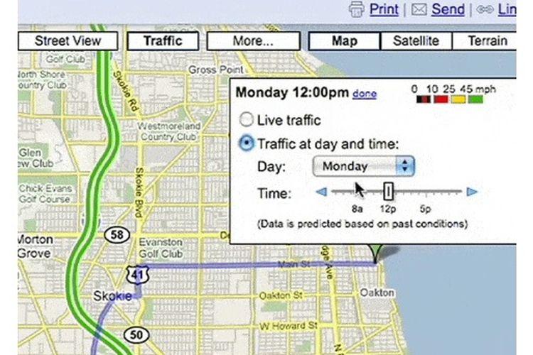 Tampilan Google Maps lawas.