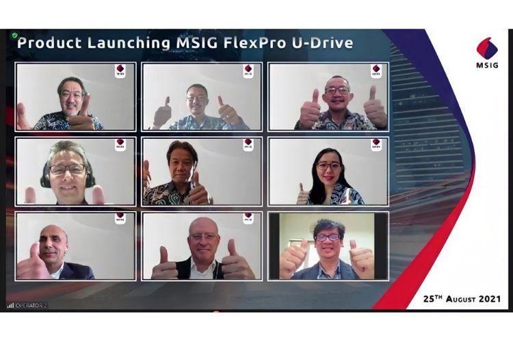 Launching Asuransi MSIG FlexPro U-Drive pada Rabu (25/8/2021).