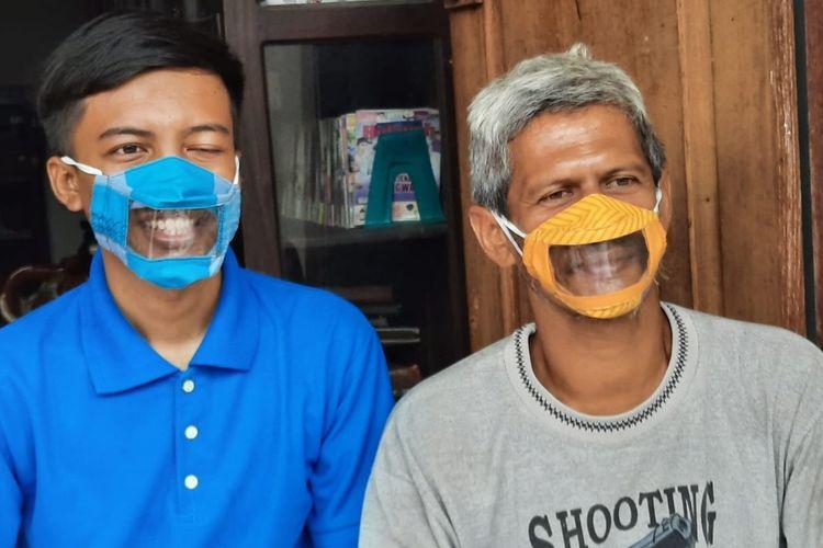 Masker transparan inovasi dari Dwi Rahayu yang juga Ketua Gerakan Kesejahteraan Tuna Rungu Indonesia (Gerkatin) Cabang Kabupaten Sleman