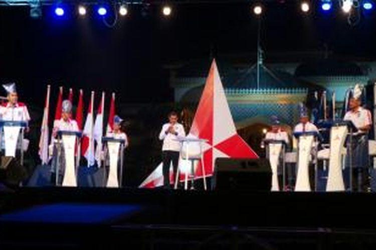 Debat enam kandidat Konvensi Calon Presiden di Kota Medan, Sumatera Utara, Selasa (21/1/2014).