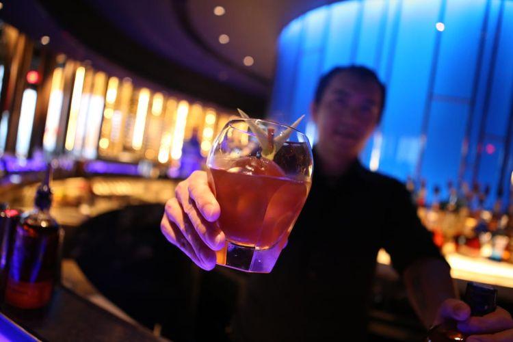 Kreasi koktail berbahan dasar bourbon yang diberi nama corn and pepper karya Bar Manager Hakkasan Indonesia, Richard Charles, yang akan dibawanya dalam World Class Competition 2019.