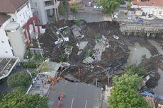 Pemulihan Jalan Raya Gubeng Surabaya yang Ambles Dikebut