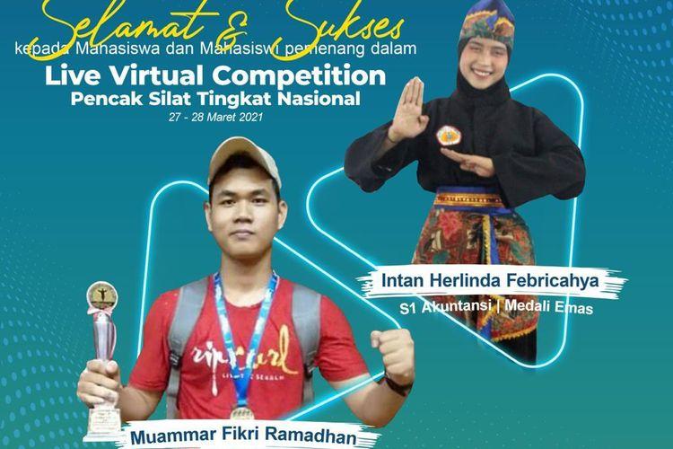 Kontingen pesilat dari Universitas Muhammadiyah Prof DR HAMKA, kembali mengukir prestasi dengan menyabet medali emas dan medali perak di ajang Virtual Competition Pencak Silat Tingkat Nasional, 27-28 Maret 2021.