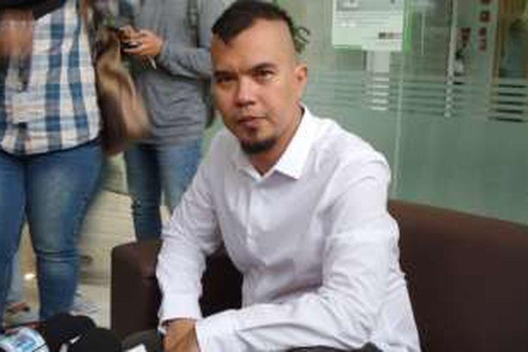 Ahmad Dhani di GKM Green, Jakarta Selatan, Rabu (13/4/2016) sore.