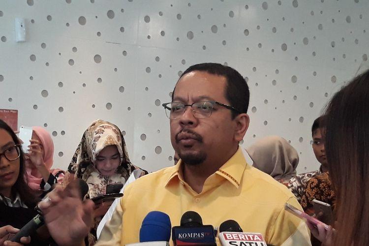 Direktur Eksekutif Indo Barometer, M Qodaridi Hotel Harris, Jakarta Selatan, Sabtu (13/4/2019).