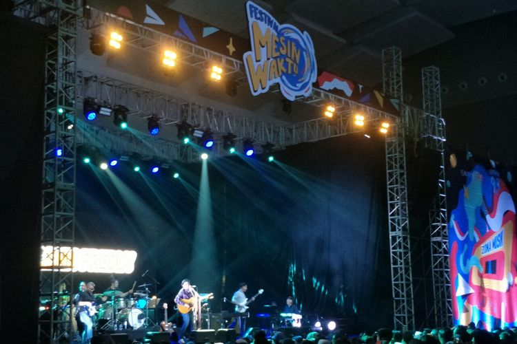 Glenn Fredly di Festival Mesin Waktu di Jiexpo Kemayoran, Jakarta Pusat, Sabtu (17/8/2019).