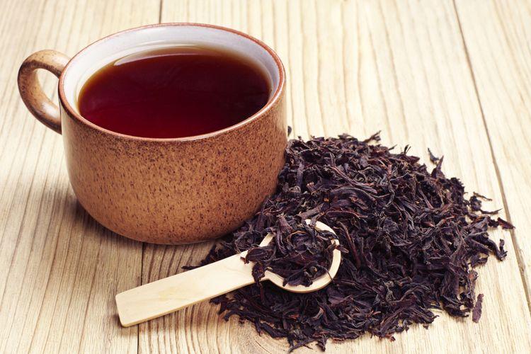 Ilustrasi teh hitam