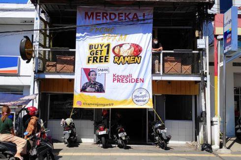 Cerita Rizqa Pasang Banner Promo Beli 1 Gratis 1 Kecuali Presiden, Murni Promosi Ramen, Sempat Diperiksa Polisi