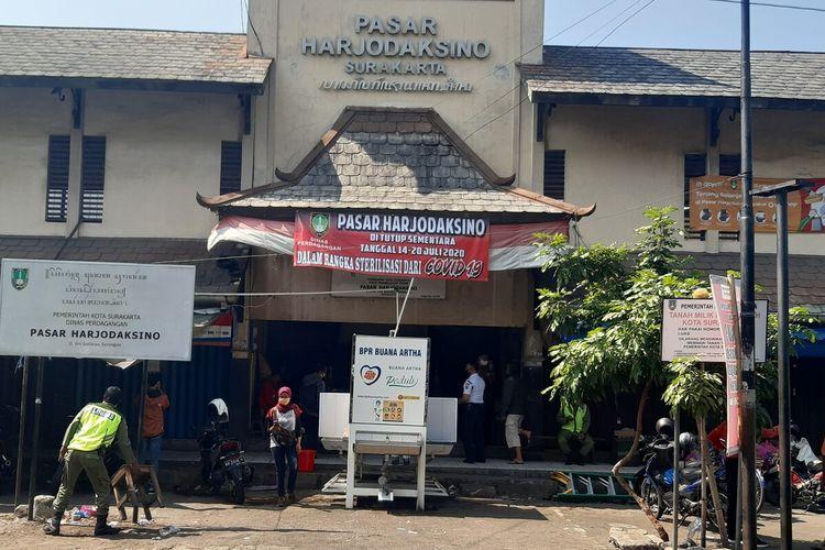 Pasar Hardjodaksino di Jalan Yos Sudarso, Kecamatan Serengan, Solo, Jawa Tengah.