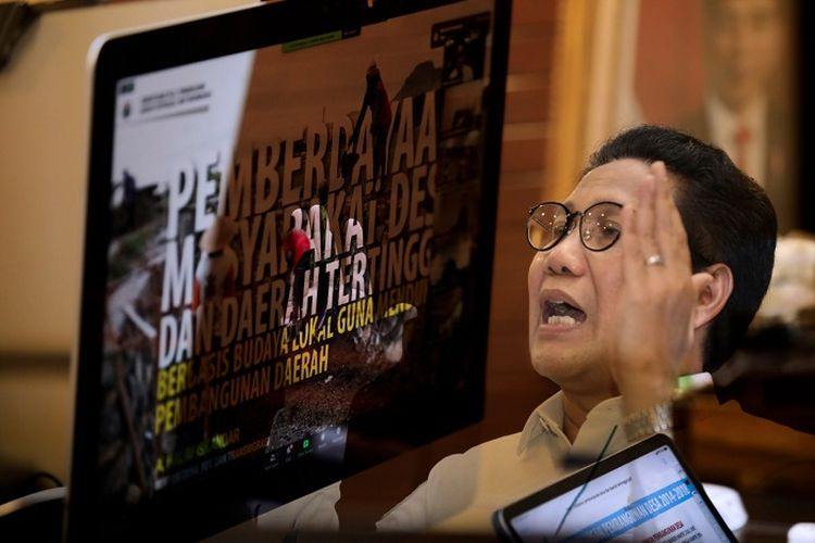 Mendes PDTT Abdul Halim Iskandar, saat memberi ceramah secara virtual pada Program Pemantapan Pimpinan Daerah Angkatan (P3DA) 11 Tahun 2020, yang diselenggarakan Lembaga Ketahanan Nasional Republik Indonesia (Lemhannas RI), Senin (16/11/2020).