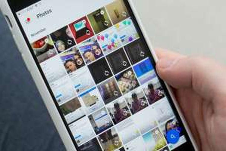 Google Photos di iOS.