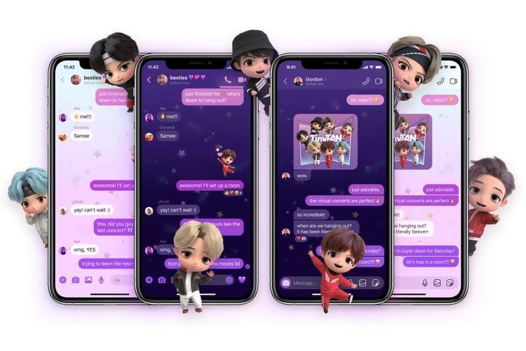 Stiker dan animasi avatar anggota BTS di Instagram dan Facebook  Messenger