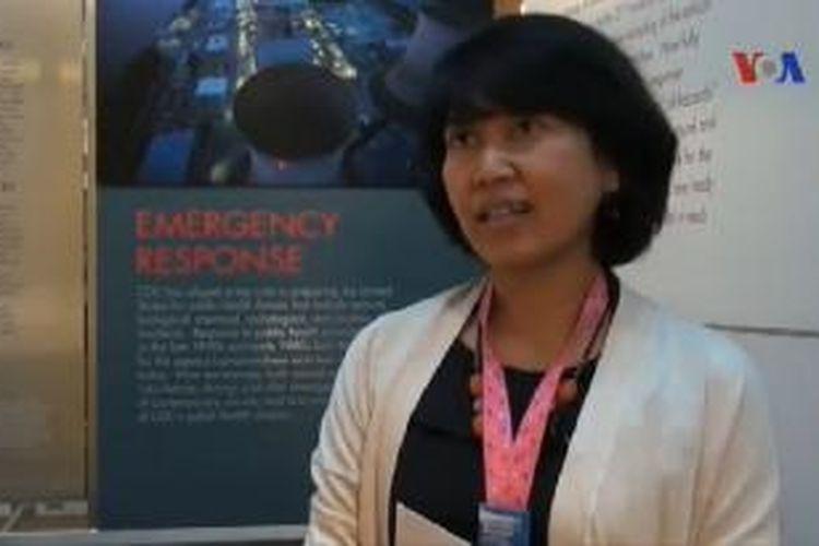 Dokter Endang Widiastuti Handzel, Ahli Kesehatan Indonesia di CDC, Atlanta, Georgia.