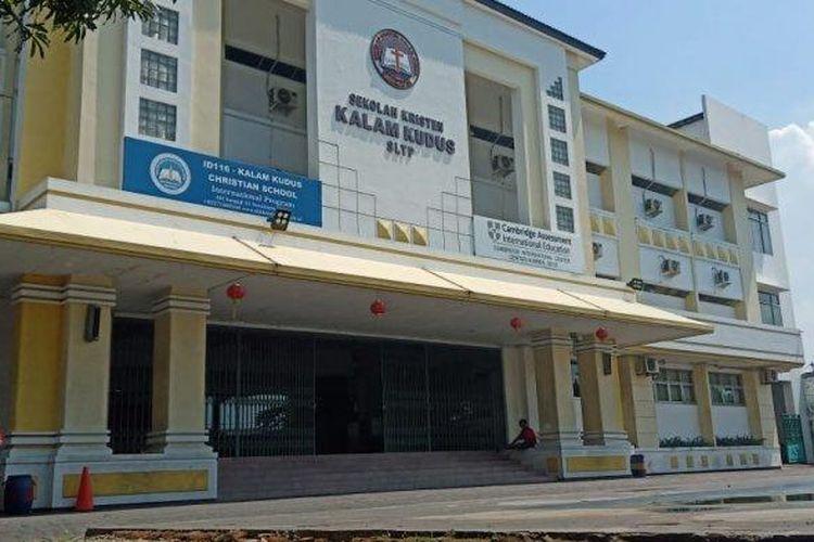 Suasana di SMP Kalam Kudus Solo, Jumat (24/1/2020).