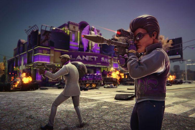 Gameplay yang terdapat pada Saints Row: The Third Remastered.