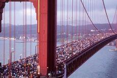 Kisah Melorotnya Jembatan Golden Gate pada 1987, Dipadati Ratusan Ribu Orang