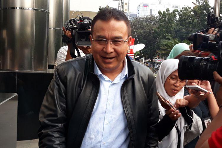 Wali Kota Tasikmalaya Budi Budiman seusai diperiksa di Gedung KPK Jakarta, Selasa (14/8/2018).
