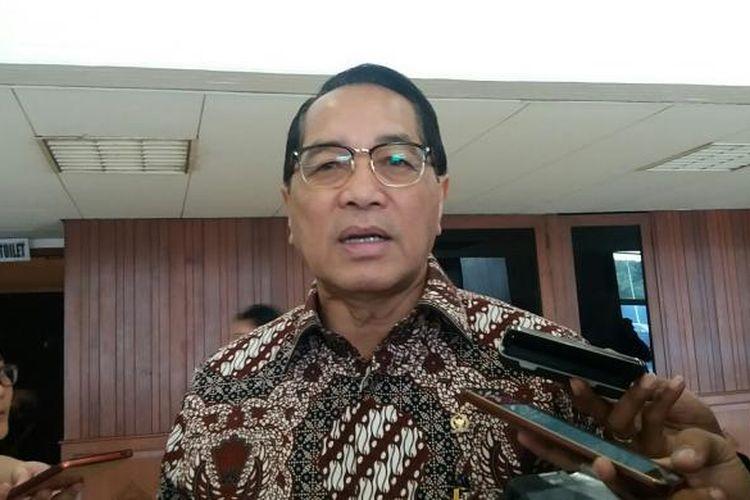 Wakil Ketua Badan Legislasi DPR RI Firman Soebagyo saat ditemui di Kompleks Parlemen, Senayan, Jakarta, Jumat (23/10/2015)