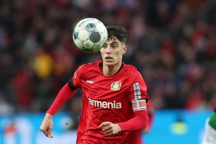 Gelandang Bayer Leverkusen, Kai Havertz.