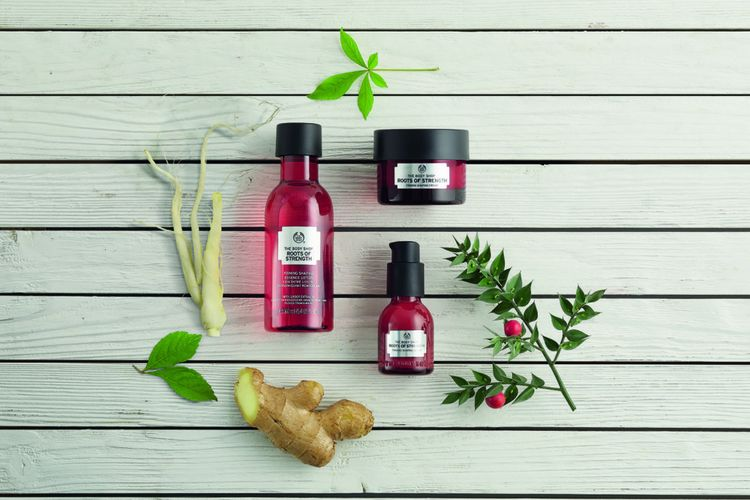 Rangkaian produk The Body Shop Roots of Strength