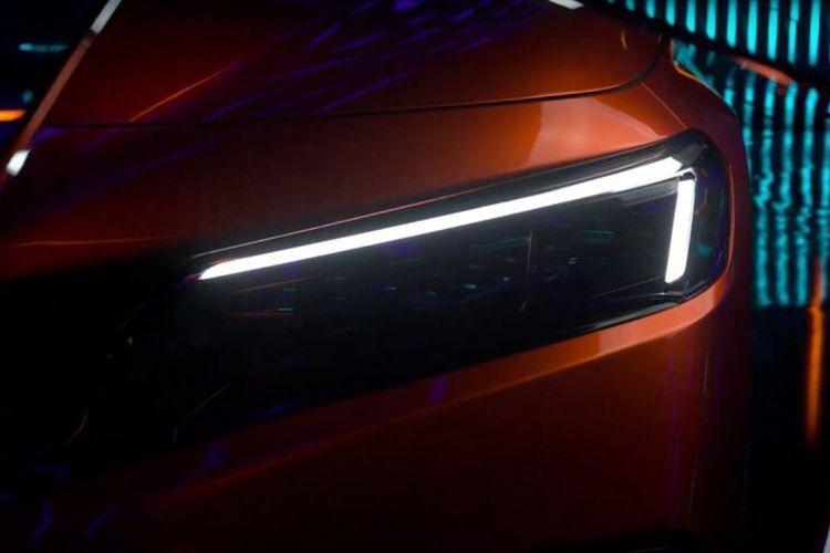 Ilustrasi tampilan lampu depan Honda Civic generasi terbaru.