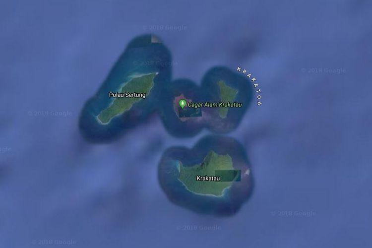 Wilayah Anak Gunung Krakatau di Selat Sunda, Lampung