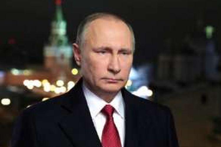 Presiden Rusia Vladimir Putin menyampaikan pidato Tahun Barunya di Moskva, 31 Desember 2016