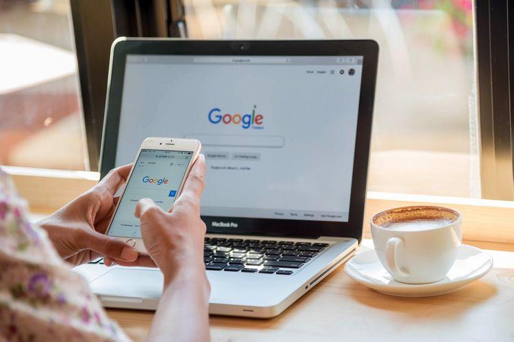 Ilustrasi Google, Google Search, mesin pencarian