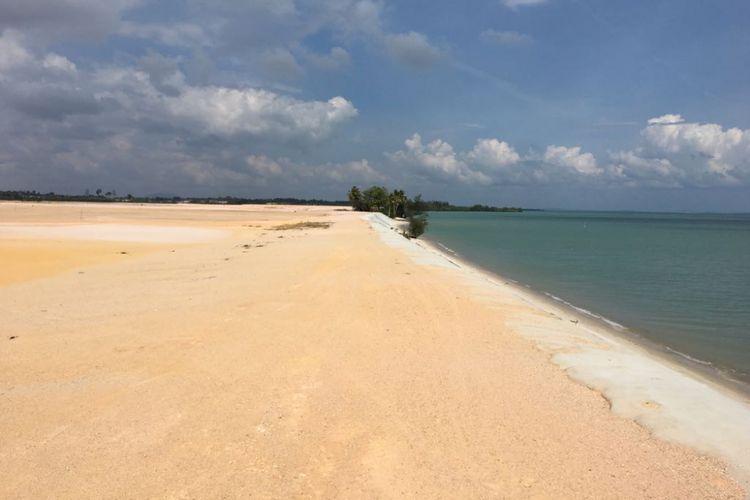 Tampak lokasi Bintan New Airport di Kabupaten Bintan, Provinsi Kepulauan Riau, Jumat (23/3/2018). Kepulauan Riau akan menjadi salah satu destinasi wisata andalan di perbatasan RI.