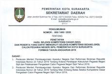Hasil SKD CPNS Pemkot Surakarta Diumumkan, Berikut Rinciannya