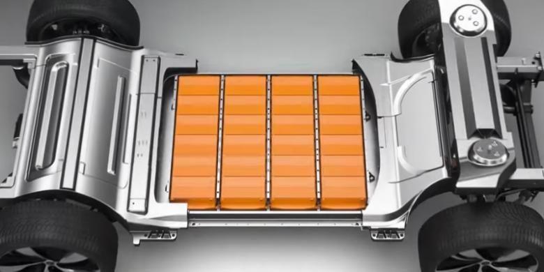 Baterai dan motor dalam mobil listrik Faraday FFZERO1