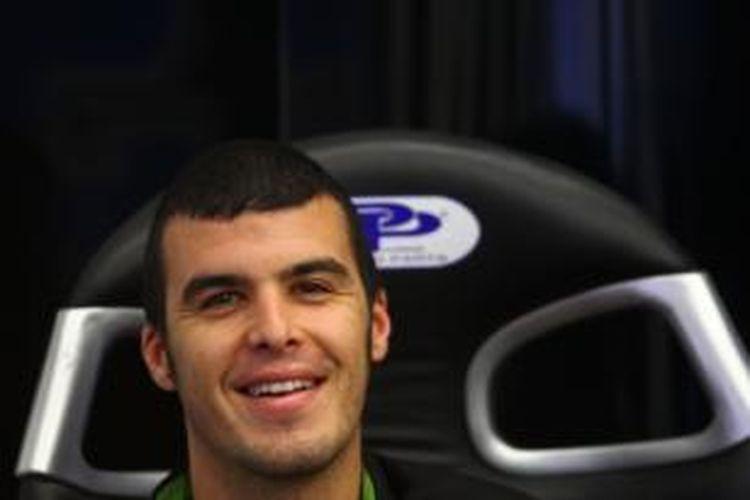 Pebalap World Supersport asal Italia, Luca Scassa, yang akan menggantikan Karel Abraham, membalap untuk Cardion AB Motoracing, pada GP Aragon di Sirkuit Motorland, 27-29 September 2013.