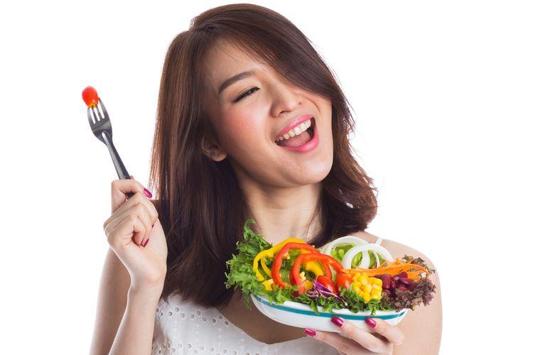 Ilustrasi makan sehat.