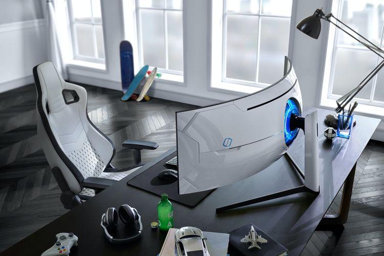 Samsung Odyssey G9 diklaim monitor gaming pertama dengan lengkungan 1000R.