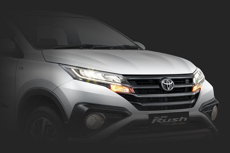 Ilustrasi tampilan depan Toyota Rush