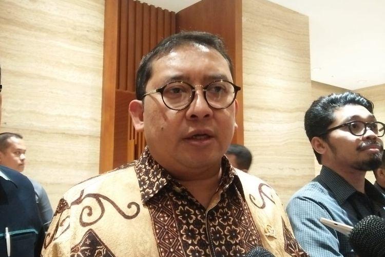 Wakil Ketua DPR RI Fadli Zon usai menerima tokoh-tokoh Papua di Kompleks Parlemen, Senayan, Jakarta, Rabu (11/9/2019).
